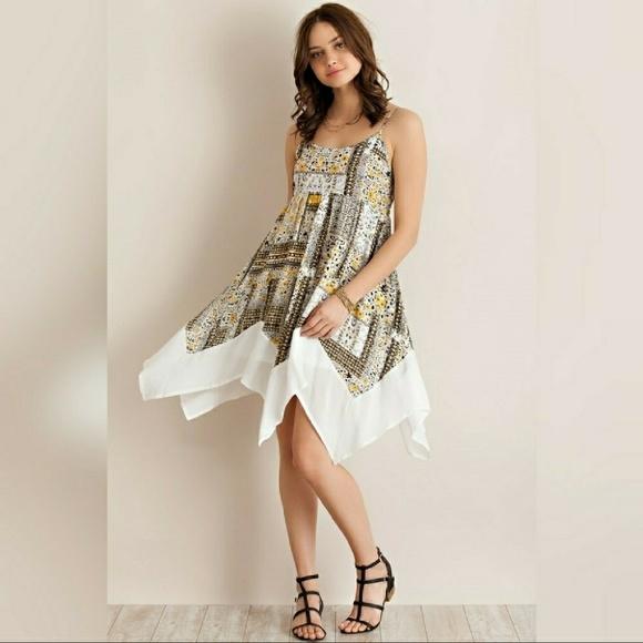 saucy moonchild fashion house Dresses & Skirts - HP🎉5🌟 NEW🎀boho lemon handkerchief flowy dress